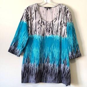 Long Ulla Popken split side short sleeve shirt